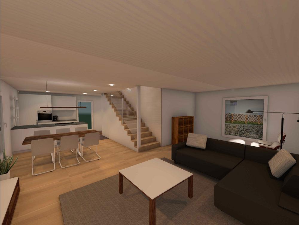 Wohnbereich Visualisierung